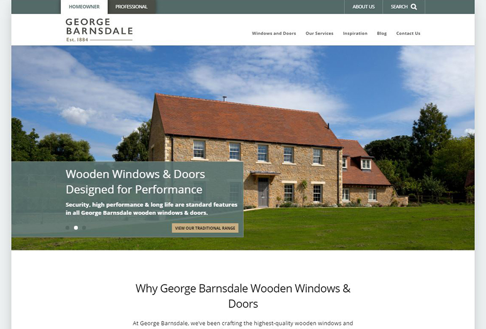 George Barnsdale - Timber windows, wooden sash windows & wood doors
